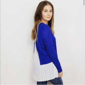 Sandro Paris Wool Sweater With Pleat Shirt